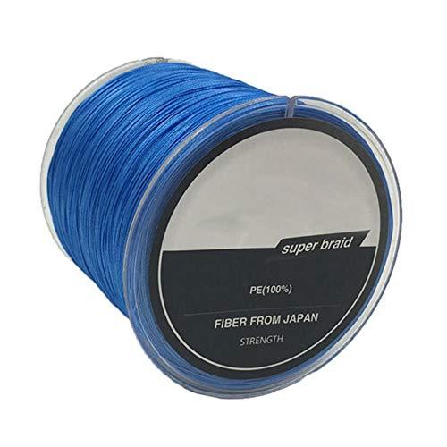 AchidistviQ 300 m hilo trenzado de pesca, tejido de polietileno, 8 hebras trenzadas, súper fuerte, cuerda de pesca al aire libre, color azul 12*