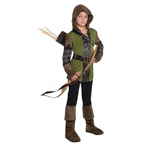 NET TOYS Disfraz Robin Hood para niño - Verde-marrón 12 - 14 años, 150 - 162 cm - Extraordinaria Vestimenta Cazador y rastreador Festival Infantil y Fiesta de Disfraces