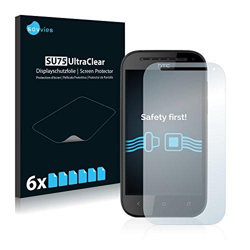 savvies 6-Pezzi Pellicola Protettiva Compatibile con HTC One SV Protezione Schermo Trasparente
