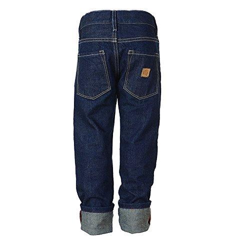 Rascal Jungen Jeans Hose aus 100% Bio-Baumwolle, blau raw denim, 140