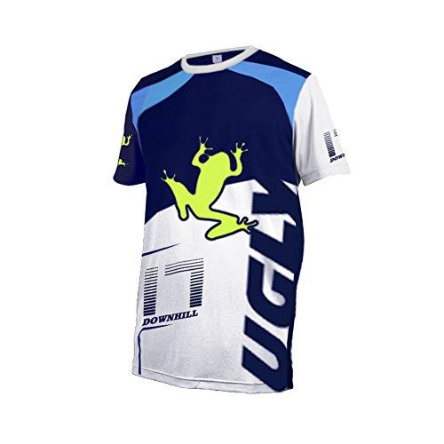 BurningBikewears Uglyfrog Verano Ropa Bicicleta Descenso Manga Corta Jersey Racewear Camiseta MTB Maillot Z06