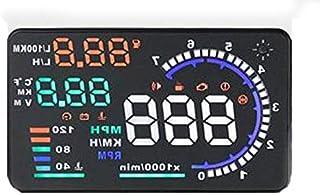 شاشة العرض على الزجاج الامامي للسيارة او بي دي 2، بنظام تحذير للسعة الزائدة واستهلاك الوقود