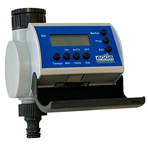 Aqua Control C4100 Programador de Riego para Jardín-con Pantalla LCD-Hasta 8 Arranques por día, gris