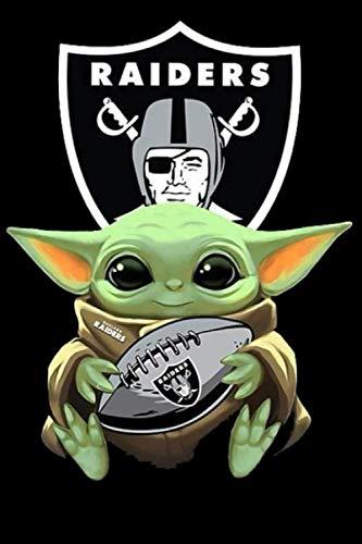 Baby Yoda Hug Oakland Raiders Sport Notebook Weekly Planner Notebook Journal