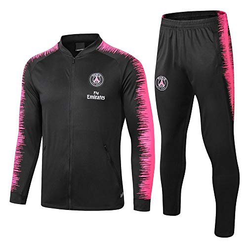 Entrainement Club Football Match Match Uniforme Veste Uniforme Veste Zippée à Col en V Noir @ Photo Color_M