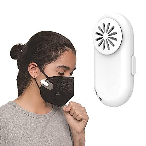 Jaiconfiance Mini Fan Cool Mask Clip-on Air Purifier,Personal Breathe Cooler Wearable Air Purifier,Portable Mini Air Purifier,Low Noise Mini Portable-White