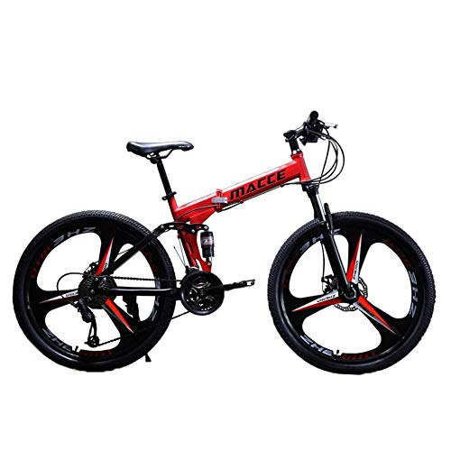 Check Out This SPRAOI 26IN Carbon Steel Mountain Bike Foldable Full Suspension 21 Speed Variable Spe...