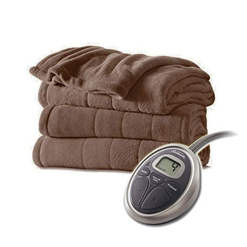 Sunbeam Channeled Velvet Plush Electric Heated Blanket Full...