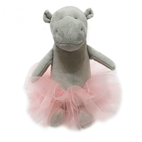 miaomiao Juguete de Peluche Moda Peluches Bailarina Muñeca Hipopótamo Princesa Muñeca Hipopótamo para Niña Almohada Animal Cojín Suave Chica Regalo De Cumpleaños