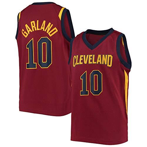 WSWZ Camisetas De Baloncesto para Hombre - Camiseta De Los Cleveland Cavaliers 10# Darius Garland - Camiseta Cómoda Unisex con Chaleco Deportivo De Baloncesto,XL(180~185CM/85~95KG)