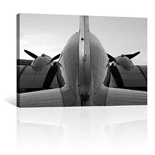 CANVAS REVOLUTION | Cuadro Decorativo Canvas Lienzo Impresión | Artisitcas | Avion Bombardero Antiguo | Diferentes Dimensiones...