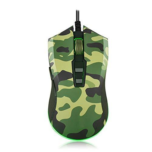 6000DPI Gaming Ratón Óptico con Cable con 6 Colores De Respiración Ciclado Luces LED 6 dpi Ajustable Y 7 Botones