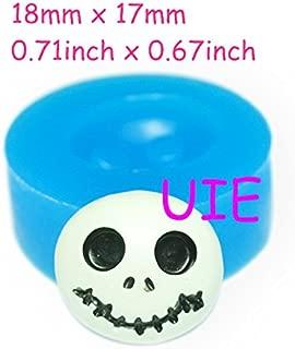 103LBJ Jack Skellington Skull Halloween Silicone Mold - Decoden Resin Fimo Polymer Clay Sculpey Wax Soap Fondant