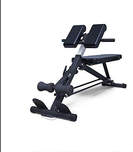 DSHUCJ Halterbank, verstelbare professionele multifunctionele Romeinse stoel Sit-up halterbank Familieoefening Fitnessoefening