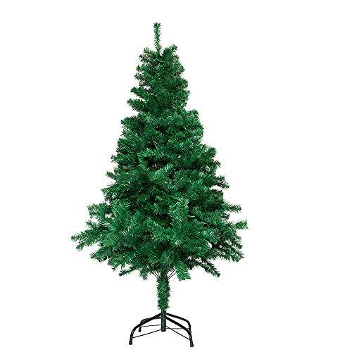 Árbol de Navidad Artificial de Agujas de Pino Verde con Efecto Nieve