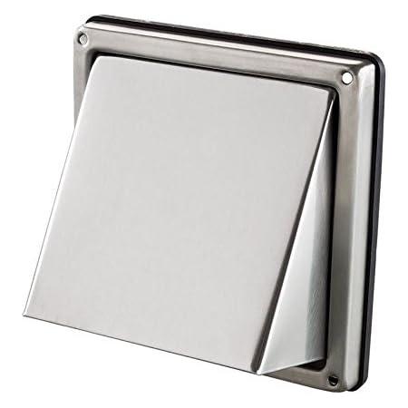 Entl/üftung 100 mm Edelstahlwand Luftentl/üftung Quadratischer W/äschetrockner-Abluftventilatorauslass
