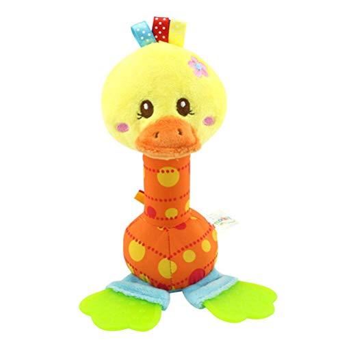 Lindo sonajero de felpa animal, cochecito colgante campana, juguetes educativos, regalo de bebé recién nacido