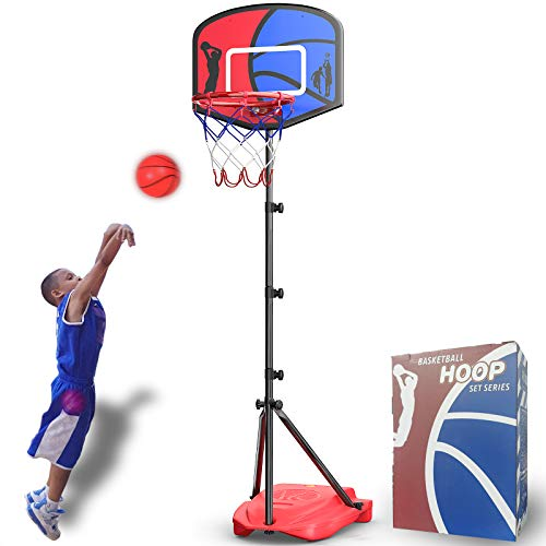 HAHAKEE Basketball Hoop for Kids Set, Adjustable Portable Basketball Set, Kids...