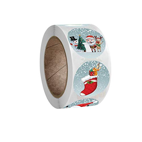 TOAOT Cadeau De Noël Étiquette Autocollant De Bande Dessinée Flocon De Neige Autocollant Décoratif Kraft Impression Autocollant, pour aux étudiants récompenses, décoration de Classe et de Maison (F)