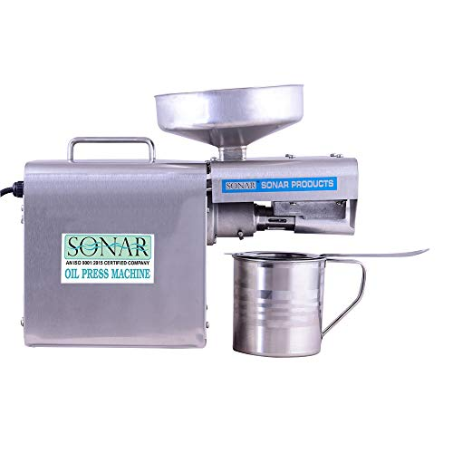 SONAR Domestic Oil Press Machine S.A-2007 Premium (Cold Press Oil Machine) Oil Press Machine for Multi Purposes/Oil Extractor Stainless Steel Pressing Machine/Oil Machine for Home use
