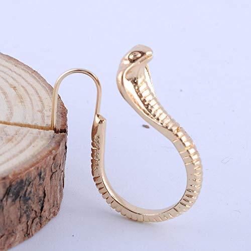 Erin Earring Creativo Sexy Cobra Oro Plata Pendientes De Moda Ligeros Pendientes De Talla De Serpiente para Mujer A5P325