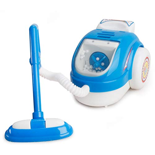 JOAN Mini-Staubsauger I Batteriebetriebener Kinderstaubsauger mit Sound-und Saugfunktion I Maße: 9cm* 7.5cm * 7 cm I Spielzeug für Kinder