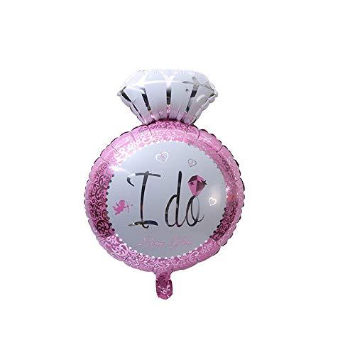takestop ballonnen, set van 2 stuks, met ballonring, diamantlunetjes, 70 cm, voor Elio Compleanni bruiloft, pasgeborenen, animatie, feesten, Roze.