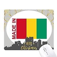 ギニアの国を好みで作られます クリスマスイブのゴムマウスパッド