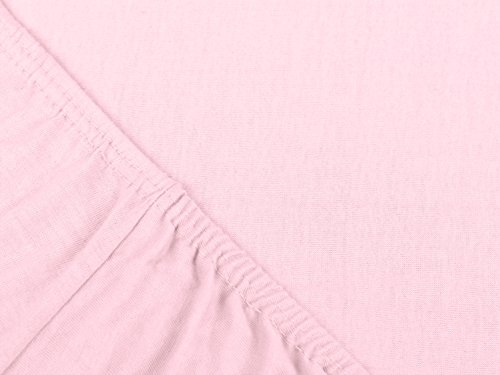 #11 npluseins Kinder-Spannbettlaken, Spannbetttuch, Bettlaken, 70×140 cm, Roze - 4
