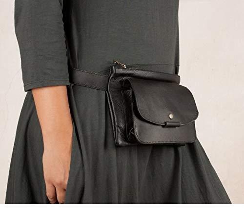 Riñonera de cuero negra, riñonera cuero bolsillo, riñonera piel, riñonera hombre, bolso de cadera, bolso viaje, riñoneras artesanas