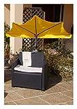 Holly Productos–Stabielo sombrilla poliéster 250cm–10piezas color amarillo–incluido en el precio notebook–Gastos de Envío de