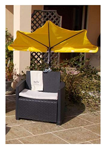 Holly® producten - STABIELO zonnescherm polyester 250 cm - 10-delig Kleur geel - in de prijs deel - verzendkosten inbegrepen -