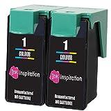 INK INSPIRATION 2 Remanufacturados para Lexmark 1 Cartuchos de Tinta Tricolor compatibles con Lexmark X2300 X2310 X2315 X2320 X2330 X2340 X2350 X2360 X2390 X2450 X2470 X2480 X3450 X3470 Z730 Z735
