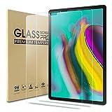 WD&CD [2 Piezas Protector de Pantalla Compatible con Samsung Galaxy Tab S5e 10.5 SM-T720/SM-T725 Cristal Templado con [Garantía de por Vida] [Alta Definicion] [Anti Scratch] [Anti Bubble]