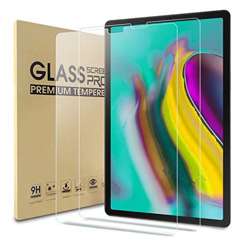 WDundCD 2 Pack Panzerglas Schutzfolie kompatibel mit Samsung Galaxy Tab S5e 10.5