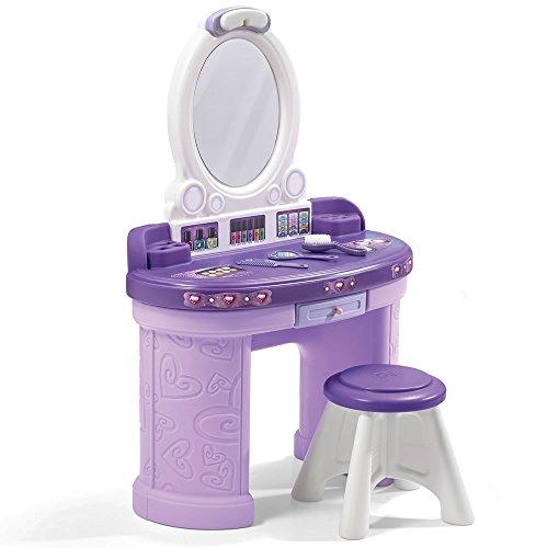 Step2 Pretty & Posh Vanity with Stool | Kids Pretend Play Vanity Set
