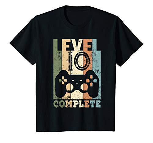 Kinder 10. Geburtstag Junge 10-jährige Level 10 Jahre Geschenk T-Shirt