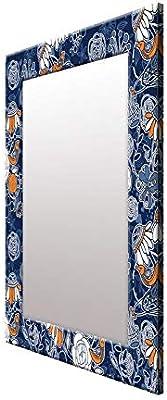 999Store Printed Blue Birds Pattern Mirror
