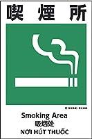 建災防統一標識 4ヶ国語(日・英・中・ベトナム) UDS-17 喫煙所 UDS-17 グリーンクロス