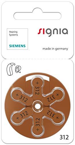 120 Stück (10 Blister) Siemens Signia Typ 312 Hörgerätebatterie Zinc Air P312 PR41 ZL3 mit 2 Stück LUXTOR® Reinigungstücher für Hörgeräte und Otoplastiken