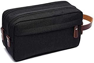 Rag & Sak® Men's Travel Toiletry Organizer Bag Water-resistant Shaving Dopp Kit Bathroom Bag With Hanging Hook & Carrying ...