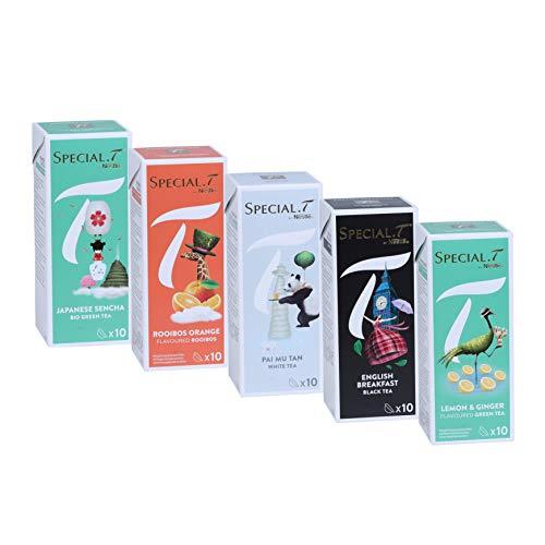 Special.T - 5 Sorten Mix für Nestlé Tee Maschinen (5 verschiedene Sorten à 10 Kapseln)