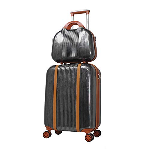 World Traveler Classique Hardside 2-PC Carry-On Spinner Luggage Set, Black, One Size
