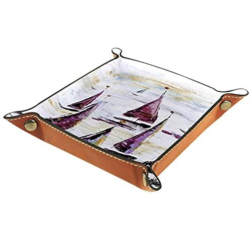 Bandeja plegable de piel sintética para relojes, joyas, maletas, etc. 16 x 16 cm.