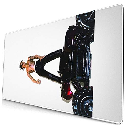 Large Gaming Mouse Pad Tra_vis Scott R-odeo Mousepad Non-Slip Rubber Mouse Mat Custom Rectangle Mouse Pads for Computers Laptop 30x15.7 Inch