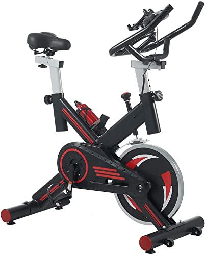 Bicicleta de Ejercicio de Giro estacionario | Inicio Gym Light Indoor Cycling Bike Spinning Bike con Monitor LCD y Soporte para teléfono CVT Transmisión silenciosa Cardio Equipos de Entrenamiento
