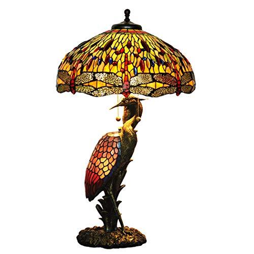 20-Zoll-Libelle Buntglaslampe Tischlampe Kran Kunst & Antiquitäten Dekoration Lampe for Kinderzimmer Wohnzimmer Schlafzimmer Antike Tisch Kommode neben Couchtisch Bücherregal DENG20191013