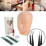 Übungskopf für Wimpernverlängerung, professionelles Mannequin Trainings Kopf Modell Lippen Make...