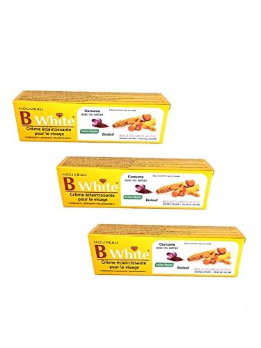 Creme de Visage Eclaircissant - Curcuma avec Safran - B White - Lot de 3 - Turmeric with Saffron - Face Cream