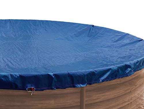 GRASEKAMP Qualität seit 1972 Abdeckplane für Pool oval 737x360cm Royalblau Planenmaß 810x460 cm Sommer Winter